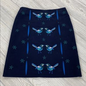 Boden blue bird skirt - sz 2